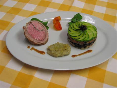 chartreuse cuisine noisettes d 39 agneau chartreuse de courgette artichaut