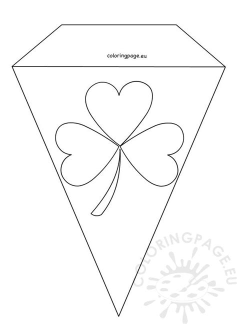 printable st patricks day flag coloring page