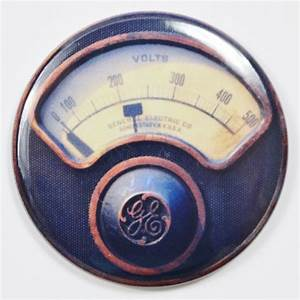 General Electric GE Steampunk Gauge FRIDGE MAGNET Meter