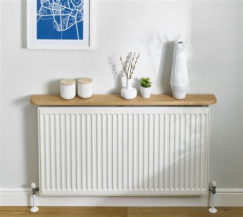 Kitchen Radiator Ideas - oak radiator shelf 20x145mm floating solid oak