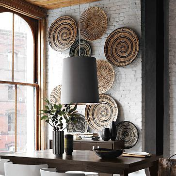 Borrow some of these unconventional wall art and decor tips and ideas. The Look Basket Wall Display
