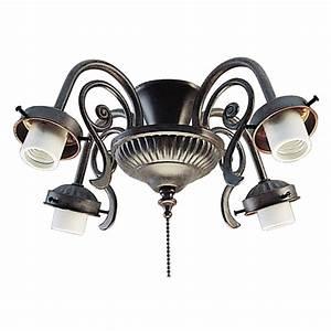 Ceiling fans light kit : Harbor breeze light copperstone ceiling fan