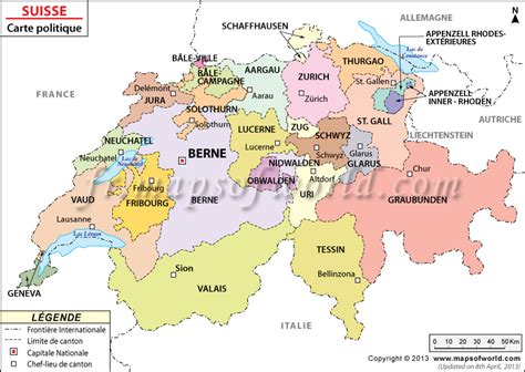 Carte Suisse by Carte De La Suisse Suisse Carte