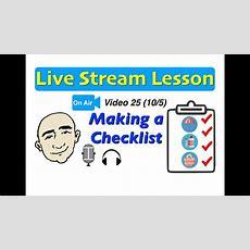 Mark Kulek Live Stream  25  Checklist  Do You Have?  English For Communication Esl