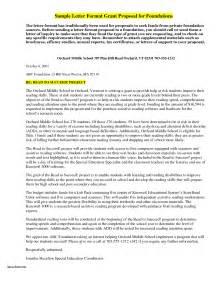 Sample Grant Proposal Cover Letter