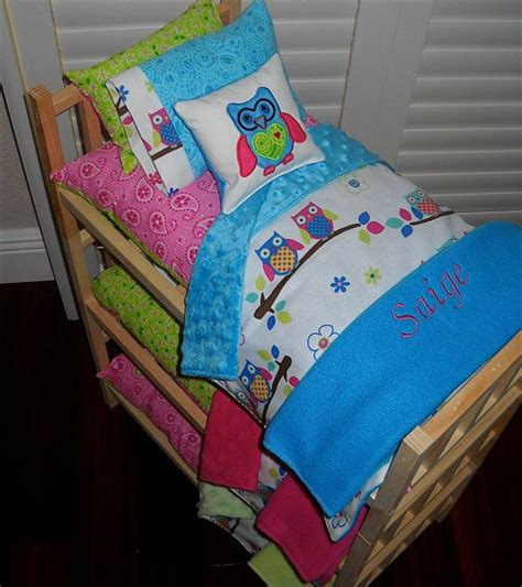 bunk beds with doll bunk bed separates with owl quilt applique