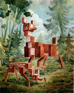 Pixelated animals by laura bifano colossal for Pixelated animal paintings by laura bifano