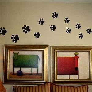 paw print wall stickers 20 walking paw prints wall decal With cute paw print wall decals ideas for home