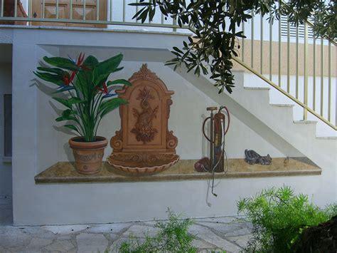 peinture murale trompe l oeil acrylique strelitzia
