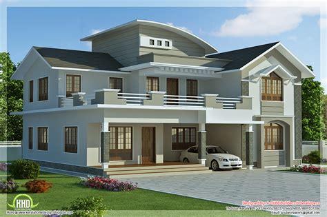 villa house plans 2960 sq 4 bedroom villa design kerala home design