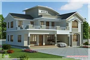 2960 sq feet 4 bedroom villa design - Kerala home design
