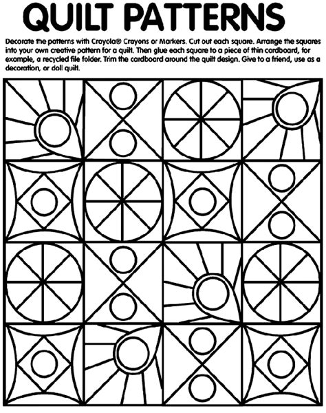 rag coat quilt patterns coloring page  crayola