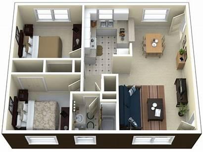 Bedroom Apartment Apartments Floor Plan Plans Layout