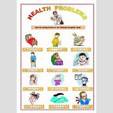 Health Problems Worksheets
