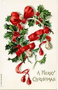 Free Vintage Christmas Wishbone Postcard Image | Old ...