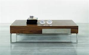 contemporary walnut coffee table with storage drawer and With wood coffee table with chrome legs