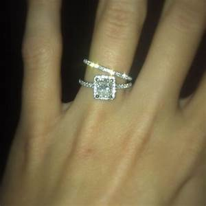 cushion cut diamond engagement ring with halo matching With best wedding band for emerald cut engagement ring