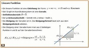 Steigung Berechnen Formel : lineare funktionen erkl rung steigungsdreieck y achsenabschnitt berechnen ~ Themetempest.com Abrechnung