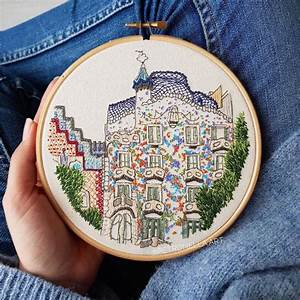 Artists Create Embroidery Patterns Inspired By European Architecture