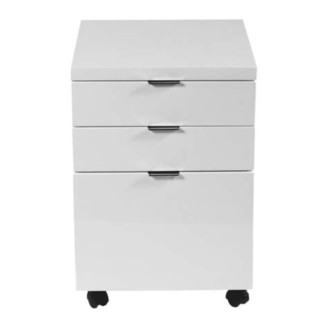 eurostyle giorgia 3 drawer file white filing cabinet ebay