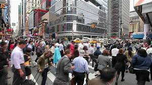 Crowd Walking Intersection New York City Fast Timelapse ...