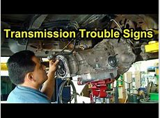Transmission Trouble Signs Checking Fluid Level, Color