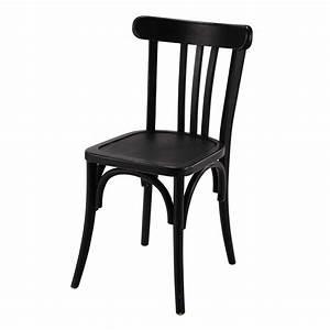 Chaise Bistrot Bois : chaise de bistrot en bois noire troquet maisons du monde decoration pinterest chaise de ~ Teatrodelosmanantiales.com Idées de Décoration