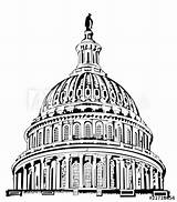 Capitol Building Drawing Dome Vector Coloring Sketch Pages Template Getdrawings sketch template