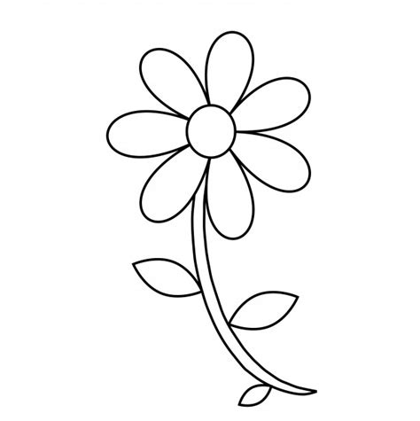 outline pictures of flowers for colouring flower outline coloring page free stock photo