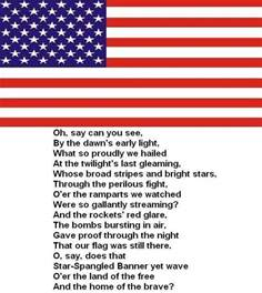 United States National Anthem Lyrics