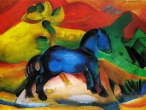 Das Kleine Blaue : 39 das kleine blaue pferdchen 39 von franz marc als kunstdruck ~ Lizthompson.info Haus und Dekorationen