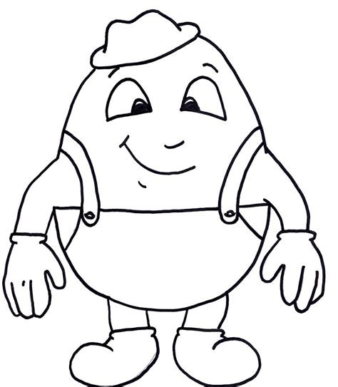 HD wallpapers coloring page for humpty dumpty