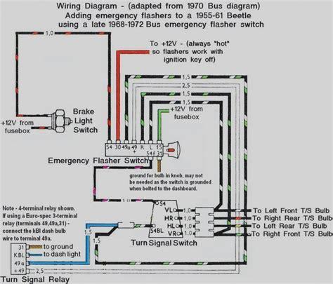 1972 vw beetle turn signal wiring diagram 1972 vw bug turn signal wiring wiring diagram
