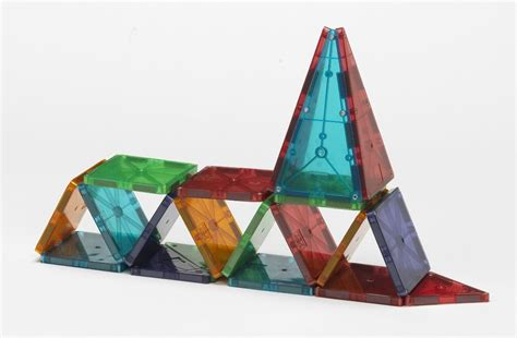 magna tiles clear colors 32 piece set automobuild