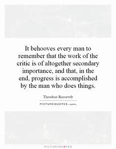 It behooves eve... Importance Of Progress Quotes