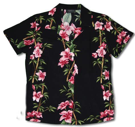 closeout plumeria bamboo panel womens shirt