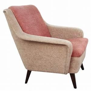 Fauteuil Velours Rose : fauteuil bicolore en velours rose pale et beige 1950 design market ~ Teatrodelosmanantiales.com Idées de Décoration
