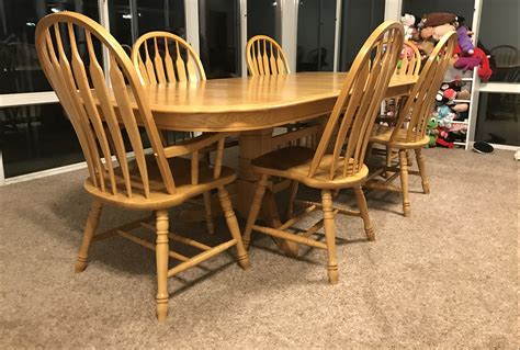 Kitchen Furniture Nj by Whatametziah Wooden Kitchen Table With 6 Chairs