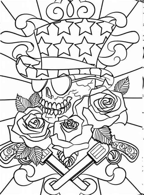 Pin by Brandy Foster on Color | Cool coloring pages, Skull
