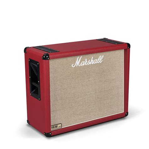 marshall 1936 2x12 cabinet marshall 1936 2x12 quot guitar speaker cab red at gear4music com