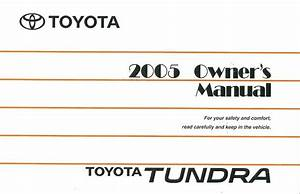 2005 Toyota Tundra Owners Manual User Guide