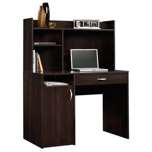 sauder beginnings cinnamon cherry desk and hutch 413084