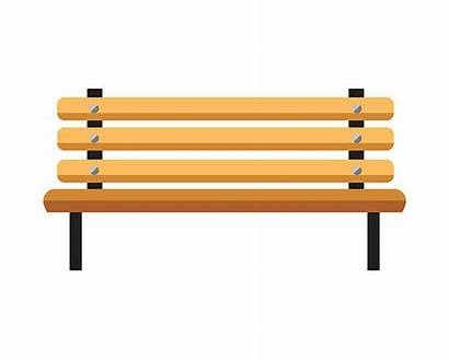 Bench Park Clipart Vector Wooden Background Clip