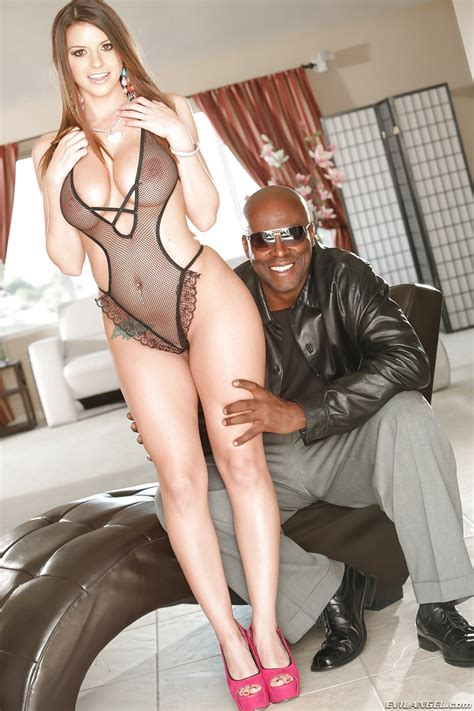 good looking busty starlet brooklyn rides on top of a big black cock