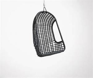 Fauteuil Suspendu Noir : fauteuil suspendu ext rieur design en rotin noir v ritable hk living ~ Teatrodelosmanantiales.com Idées de Décoration