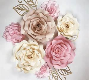 Large Paper Flowers, DIY templates and ready to ship
