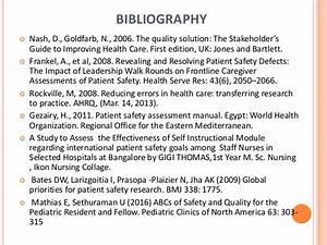 Presentation On International Patient Safety Goals  Jci