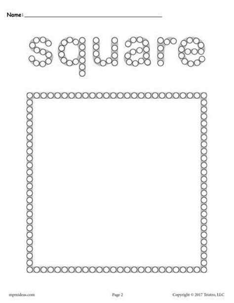 shapes  tip painting printables  tip painting preschool painting shapes worksheets
