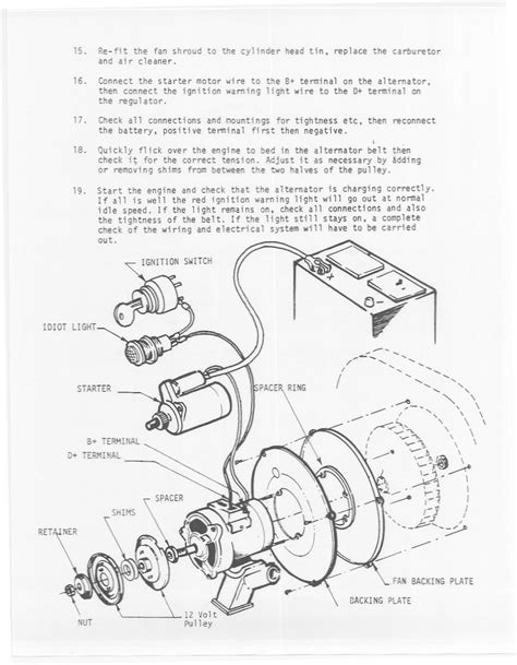 Dune Buggy Bug Alternator Kit Instructions