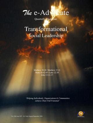 transformational social leadership   advocacy